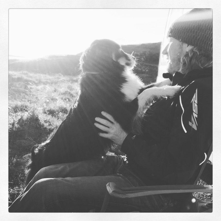 Hundemensch Hundeliebe Schottland Lewis und Harris Camping