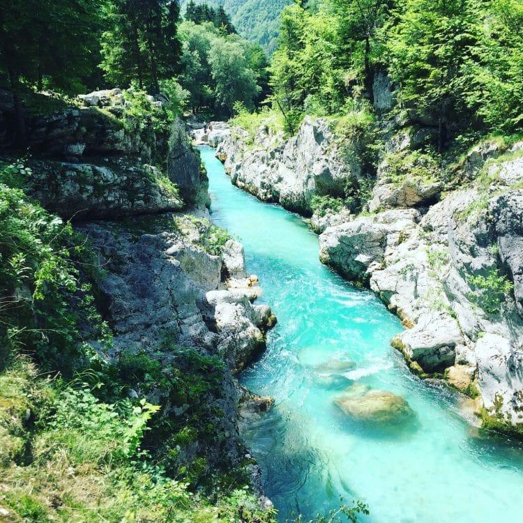 Soca Tal Wandern und Camping mit Hund Slowenien