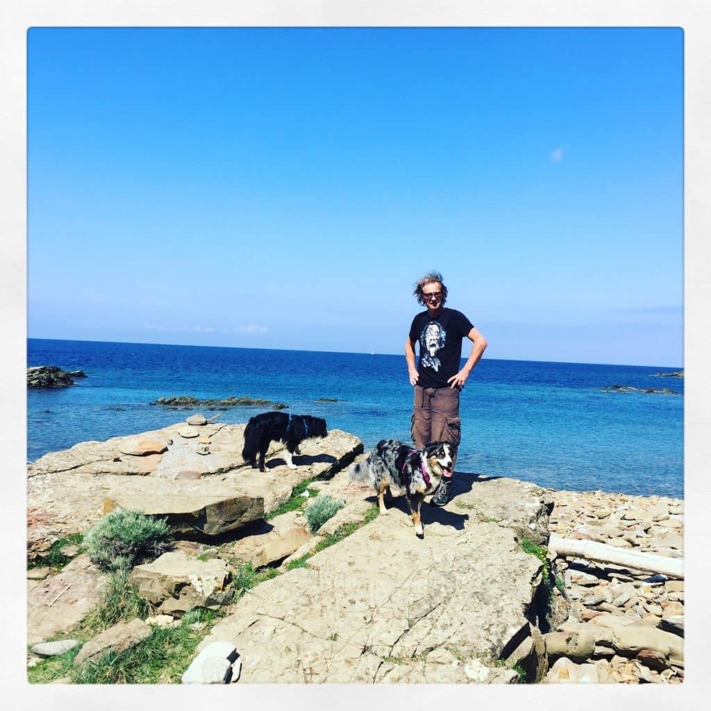Toskana Hund camping wandern