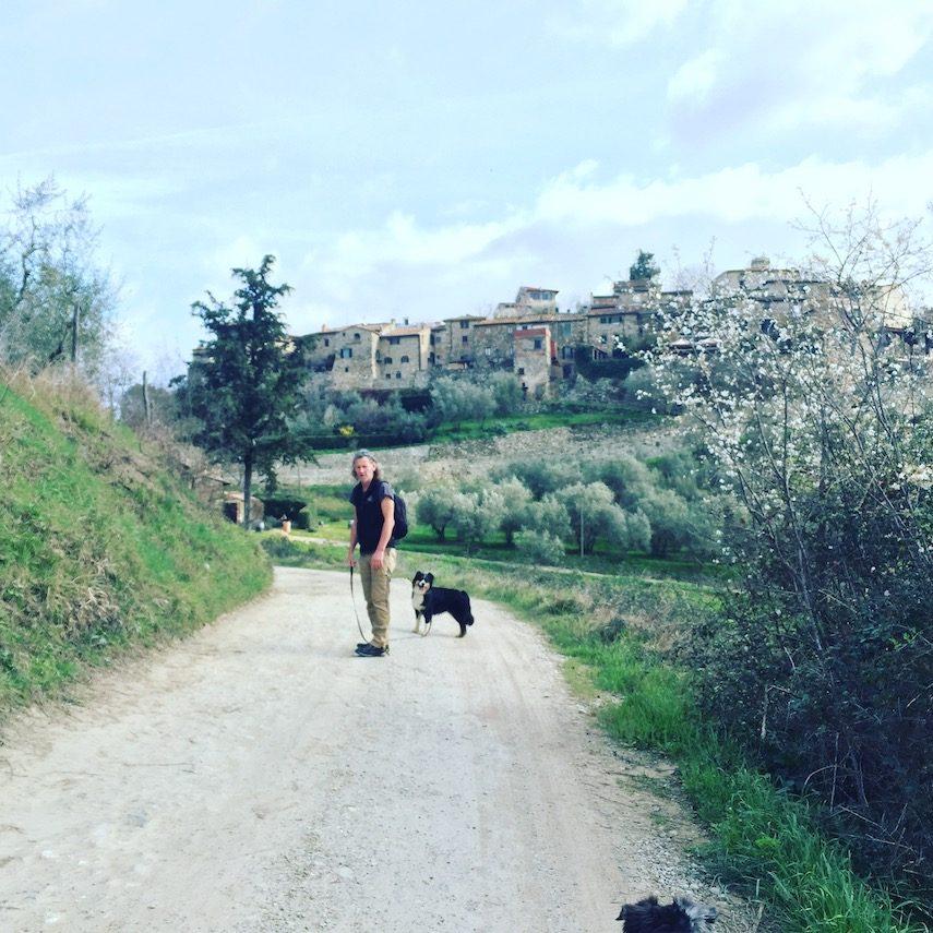 Umbrien camping hund wandern