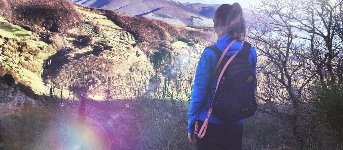 Wandern Hund umbrien camping Italien