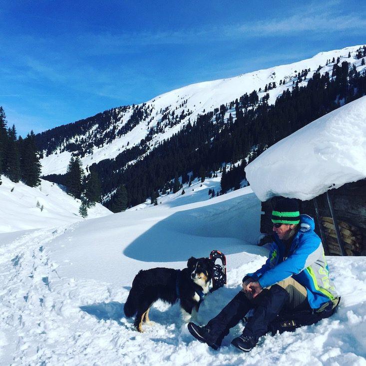 Kelchsau Langer Grund Brixental Kitzbühler Alpen Wintercamping Schneeschuh