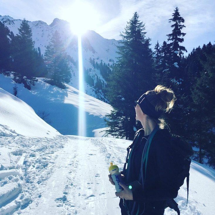 Kitzbüheler Alpen Kelchsau Schneeschuhe Hund Langer Grund Frommalm