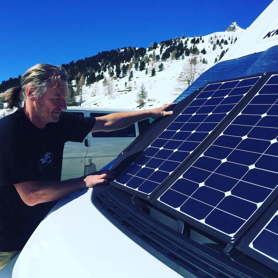 Solarpaneel Wattstunde Solartasche Camping Wohnmobil Campingbus Wintercamping