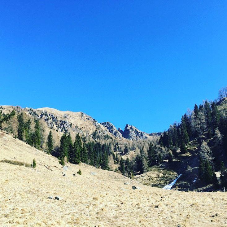 Passo Brecon Lagorai Wandern Hund Trentino Camping