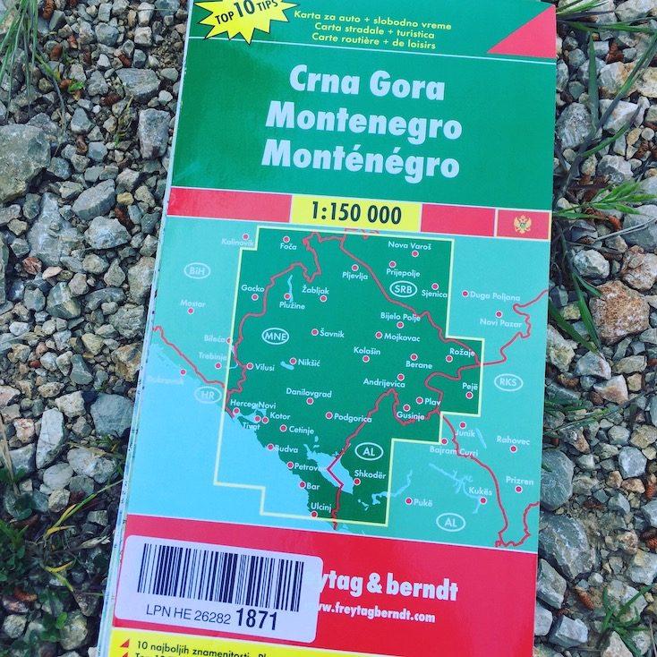 Straßenkarte Montenegro Wohnmobil Camper