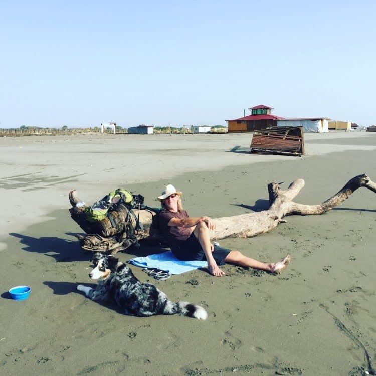 Der große Strand Velika Plaza Hund Campingplatz Wohnmobil