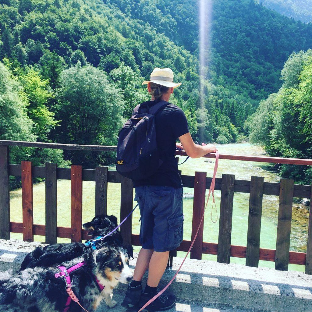 Soca Tal Hund Camping Wandern
