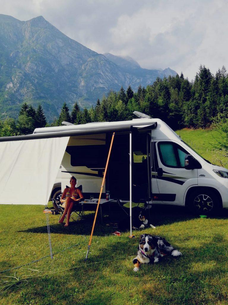 Soca Tal Hund Camping Wandern Camping Klin