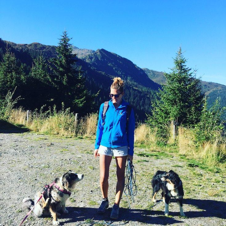 Wandern Gilfert Loas Sattel Wanderparkplatz Wildcamping Hund
