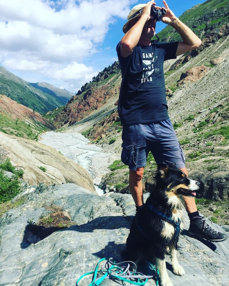 Gepatschferner Gletscher Wandern Wanderung Hund