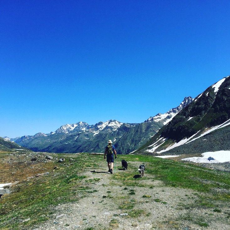 Kaunertal Wandern mit Hund Wanderung Alpen Camping