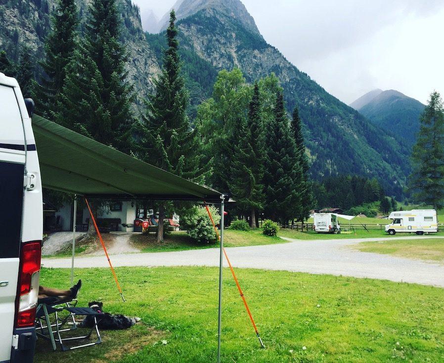 Weißseespitze Campingplatz Camping Wohnmobil Hund