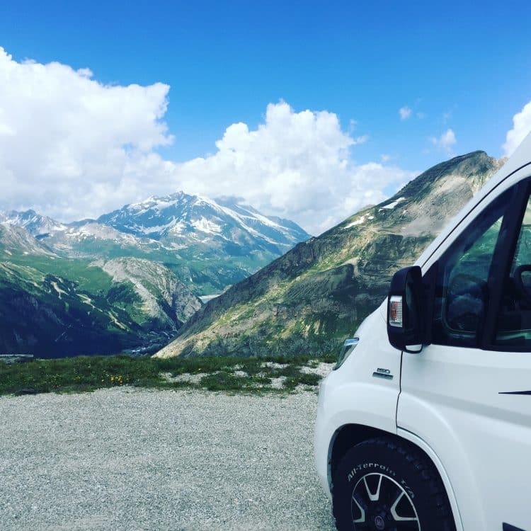 Alpenpass Frankreich Bergstraßen Alpen Campingbus Wohnmobil