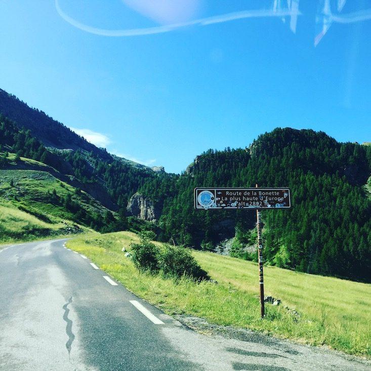 Col de la Bonette Alpenpass Passstraße Bergstraße Alpen Frankreich Panoramastraße