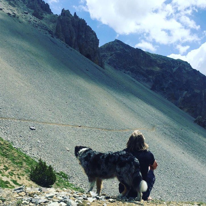 Col de l'Izoard Alpenpass Wandern Wanderung mit hund Camping  Frankreich Rhone-Alpes