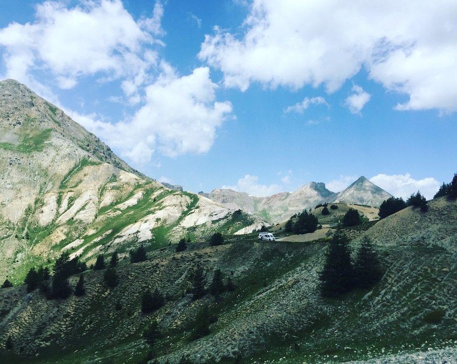 Col de l'Izoard Camping am Berg Wildcamping Frankreich Kastenwagen