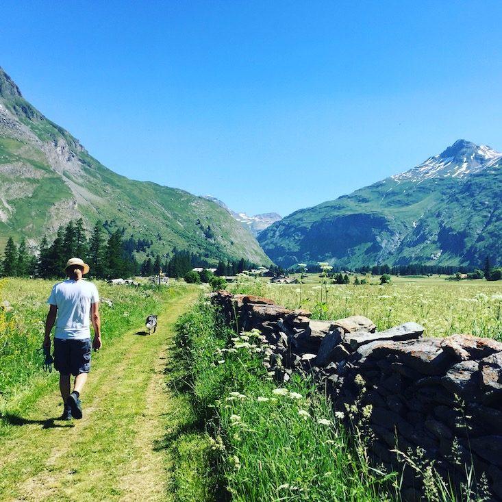 Wandern Wanderung Hund Vanoise Nationalpark Frankreich Alpen