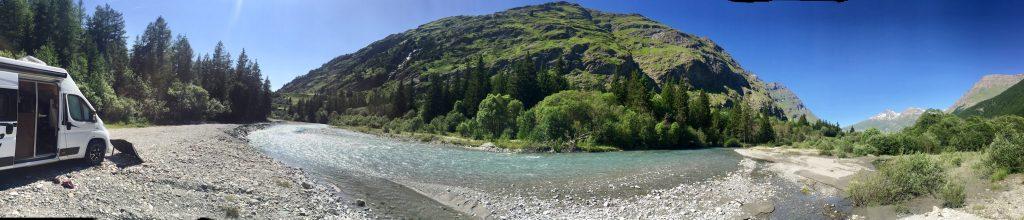 Val Cenis Camping Wildcamping l'arc Bessans Alpen Frankreich