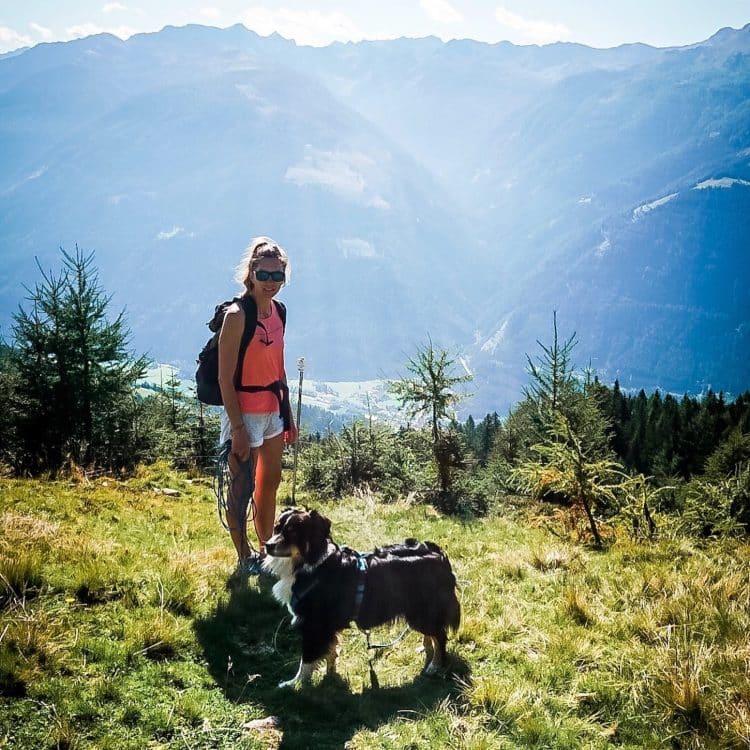 Alpe Adria Trail Hund Wandern Wanderung Kärnten Weitwandern