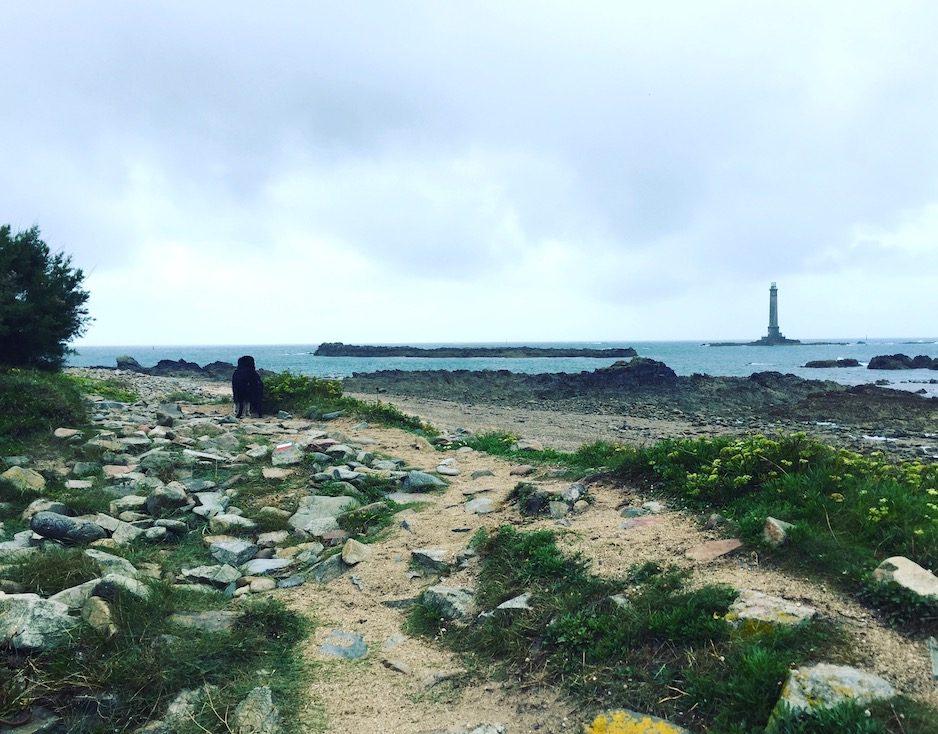 La Hague Kap Wanderung Hund wandern Normandie Cotentin La Manche Sentier Littoral