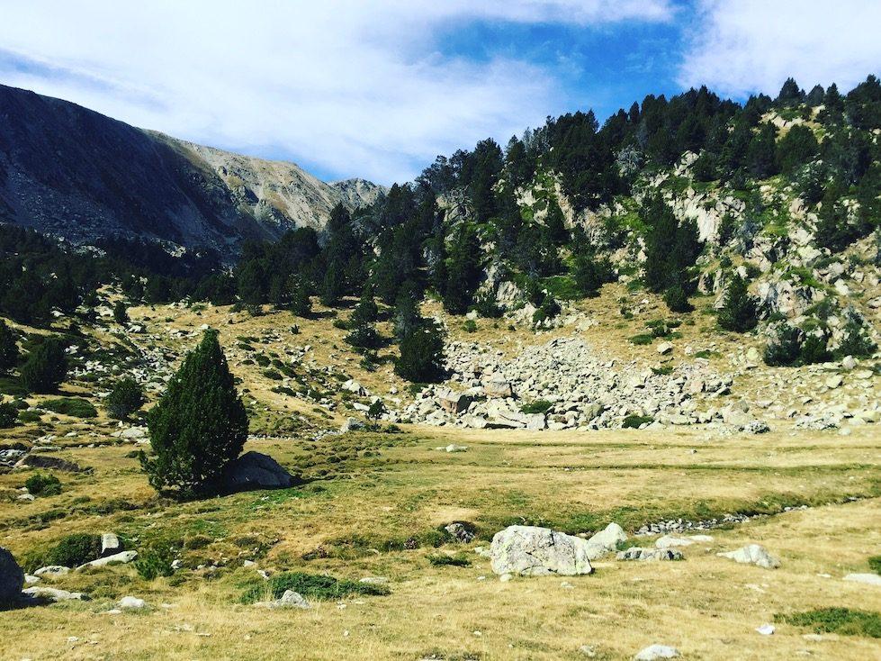 Cerdanya Wandern Wanderung Hund Refugi Cap del Rec Estany de la mega Pyrenäen Spanien