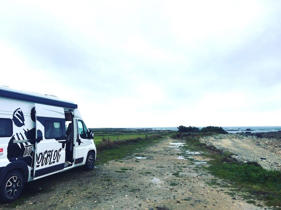 La Hague Normandie La Manche Wildcamping Camping Campingbus Wohnmobil Van