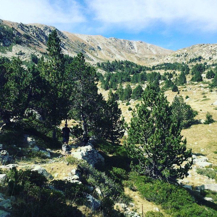 Estanys de la Muga Refugi cap del rec Wandern Wanderung mit Hund Spanien Pyrenäen Katalonien