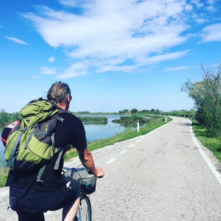 Fahrradtour Hund Lio Piccolo Laguna Nord