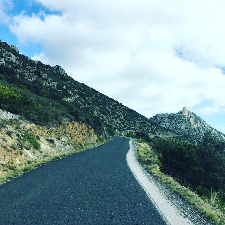 Languedoc Roussillon Queribus Wohnmobil Reise Camping Südfrankreich Panoramarouten pays cathare Katharer-Burgen