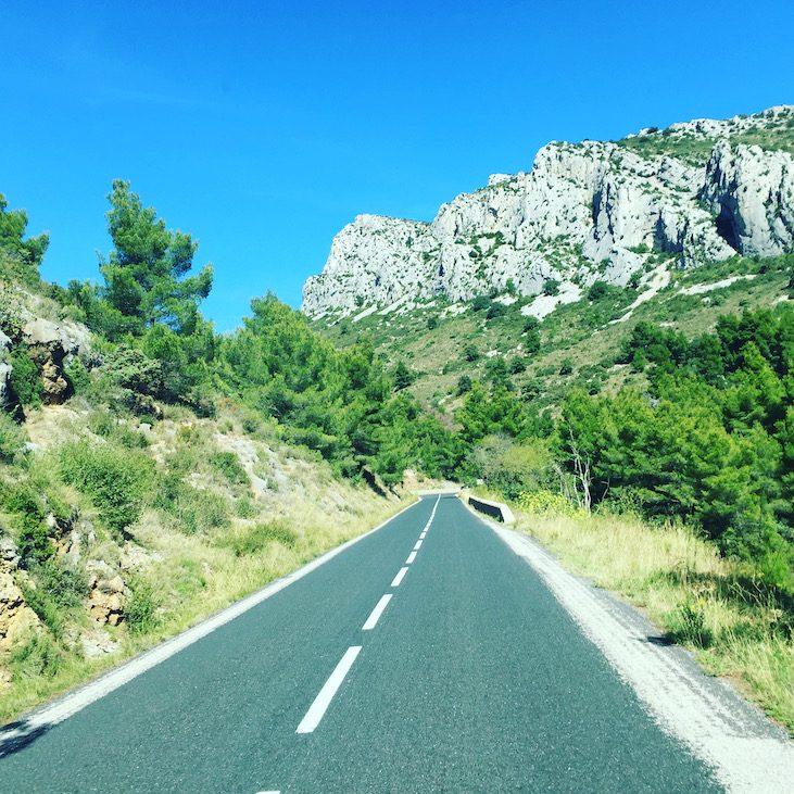 Languedoc Roussillon Panoramastraße Maury Frankreich Südfrankreich Camping Van Wohnmobil Rundreise Südfrankreich