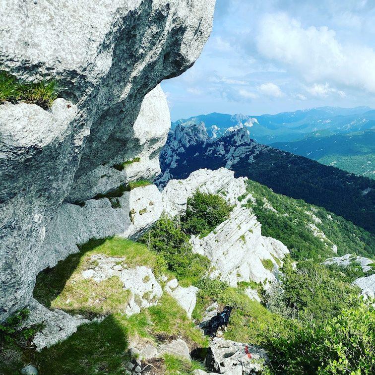 Ljubičko brdo Wanderung mit Hund Kroatien Velebit Gebirge