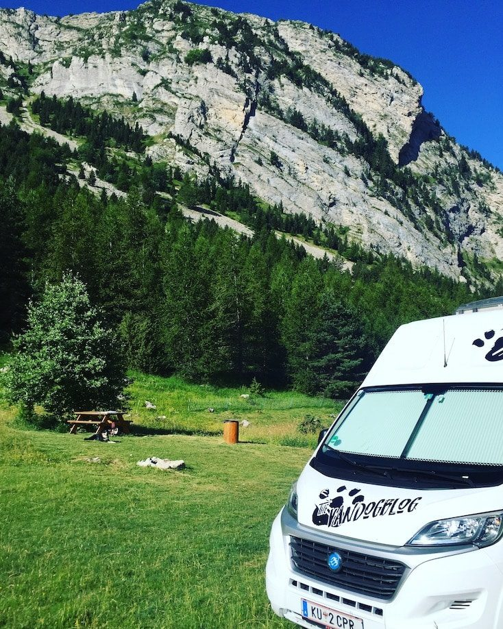Dévoluy camping camping bus Wohnmobil wild camping picknick platz
