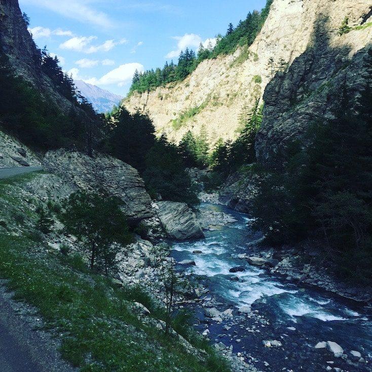 Gorges du Bachelard Route des Grandes Alpes Schlucht Frankreich Alpen