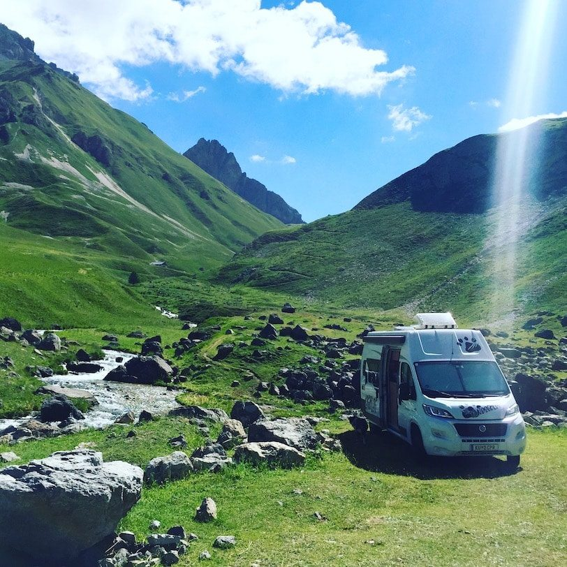 Col du Galibier Wildcamping Wohnmobil Campingbus Alpen Frankreich
