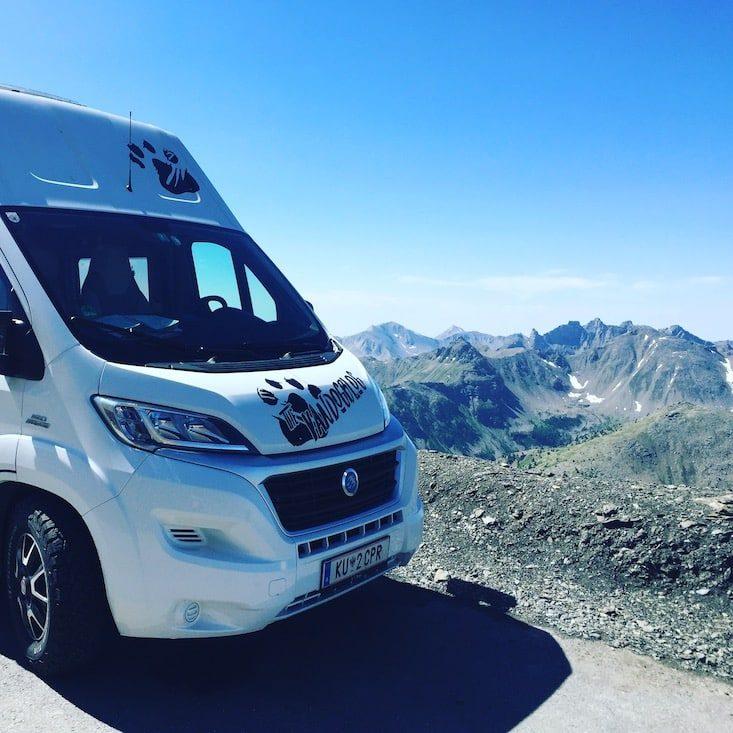 Col de la Bonette Alpenpass Frankreich möchte Straße Wohnmobil Campingbus Roadtrip