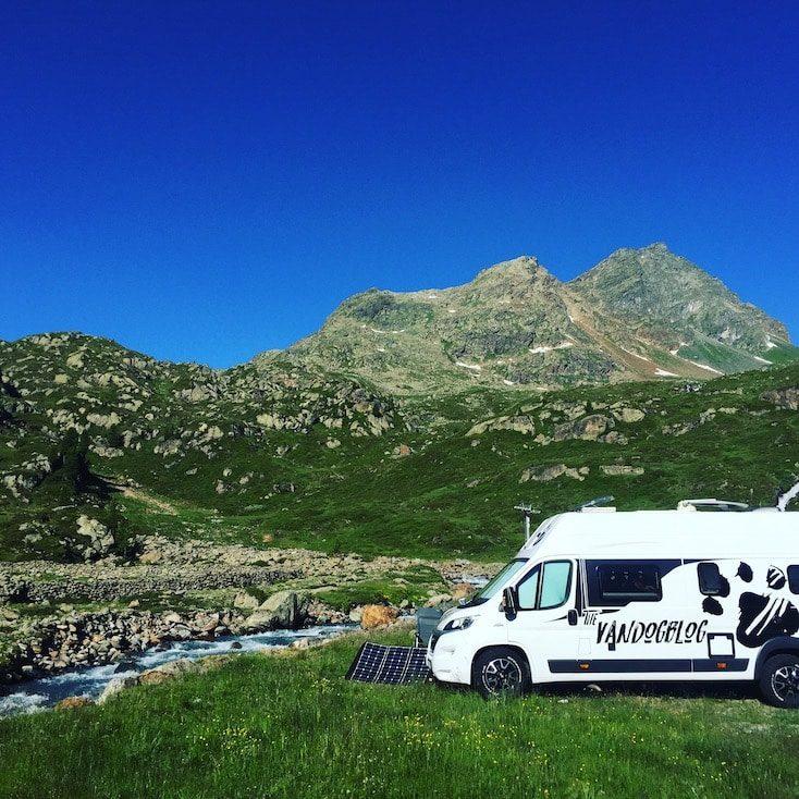 Ochsenalm Kaunertal Camping Wildcamping Wohnmobil Campingbus Van Hund Frei stehen