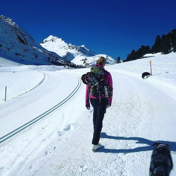 Osttirol Defreggental Staller Sattel Wintercamping Schneeschuhe Hund