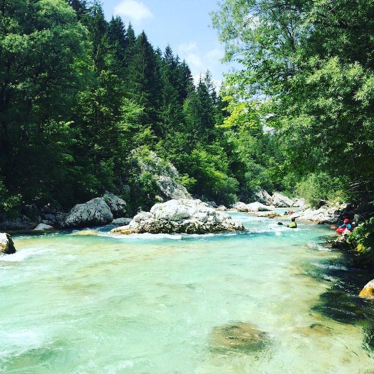 Soca Tal Camping und Wandern mit Hund Slowenien Triglav Nationalpark