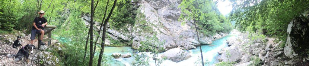 Soca Tal Wandern und Camping mit Hund Soska Pot Weitwandernweg Slowenien