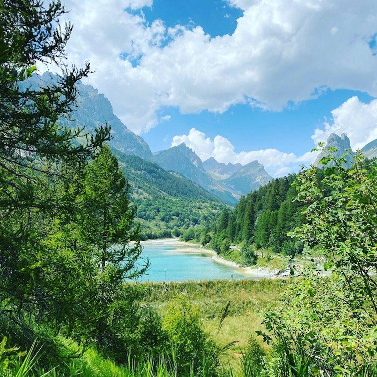 Valle Maira Lago di Saretto Rundwanderung Stausee Piemont Alpen