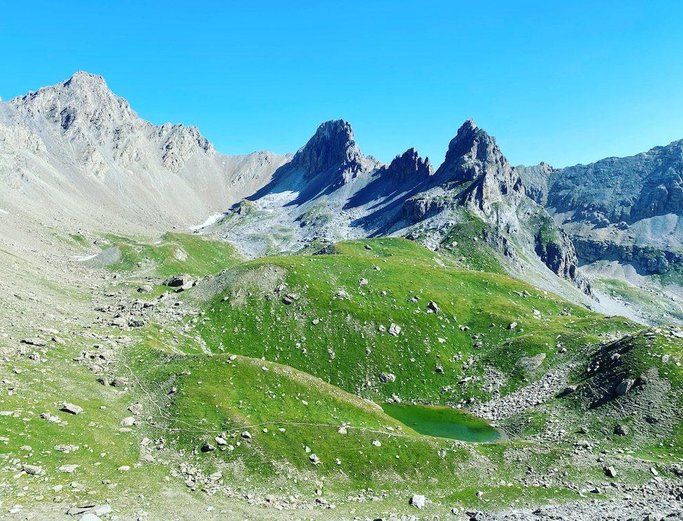 Alpen Piemont Cottische Alpen Wanderung Sentiero Dino Icardi