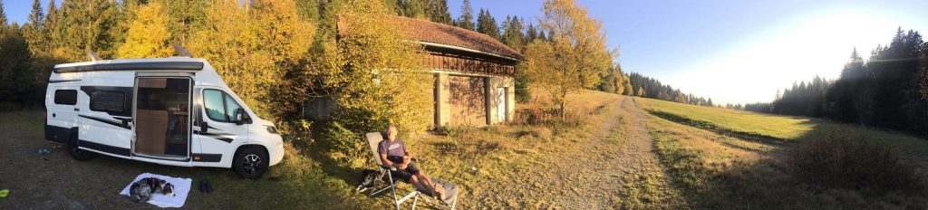 Böhmerwald Mühlviertel Camping mit Hund Wildcamping Österreich Wohnmobil Kastenwagen