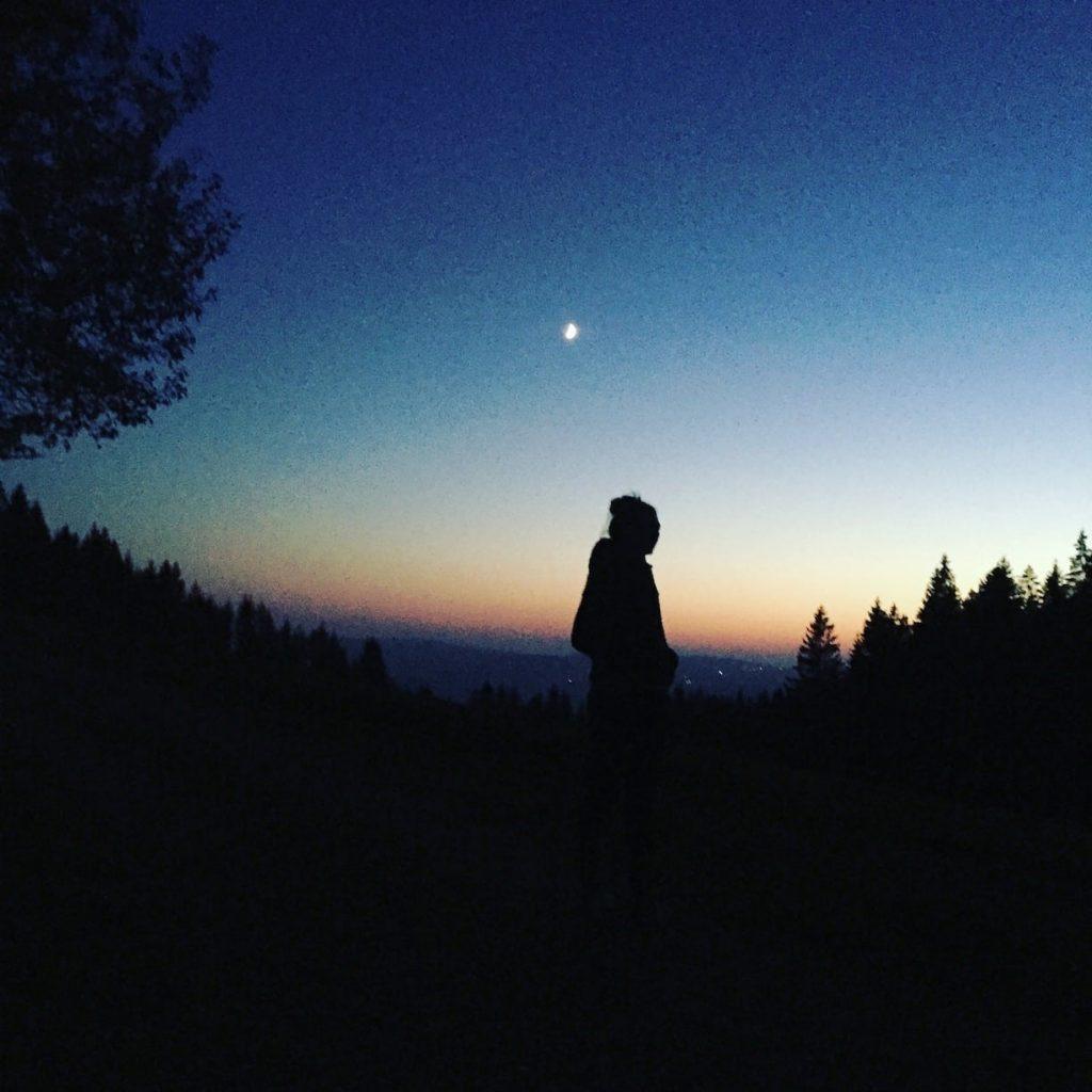 Bayrischer Wald Sonnenuntergang Camping Wohnmobil Österreich Mühlviertel