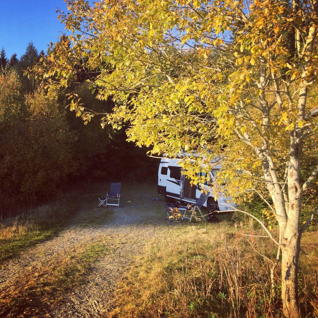 Camping Kastenwagen Wildcamping Mühlviertel Böhmerwald