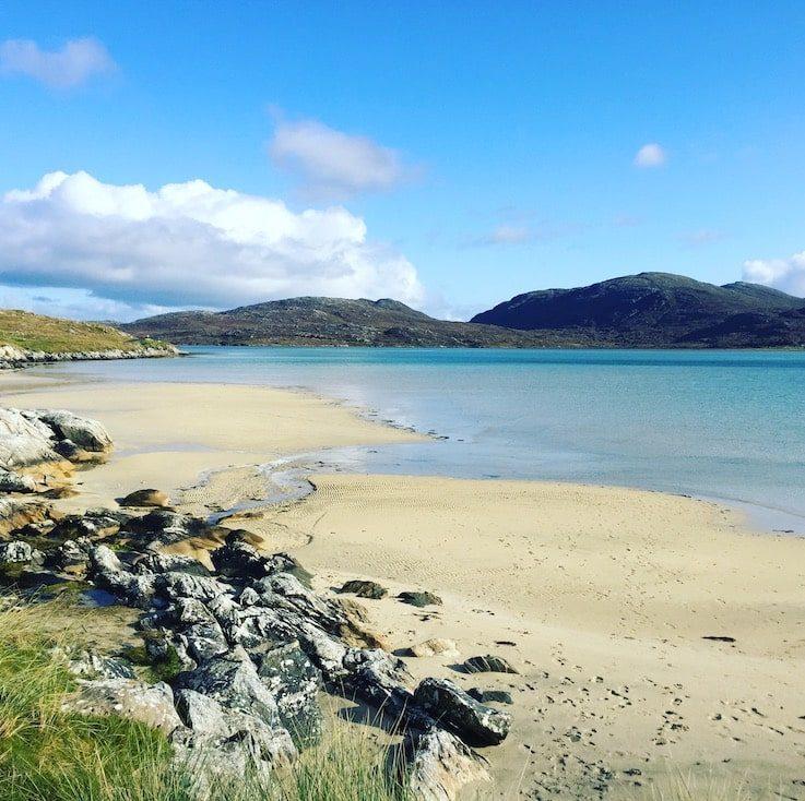 Luskentyre Beach schönster Ort der Welt Schottland Camping mit Hund Lewis und Harris Wildcamping Roadtrip