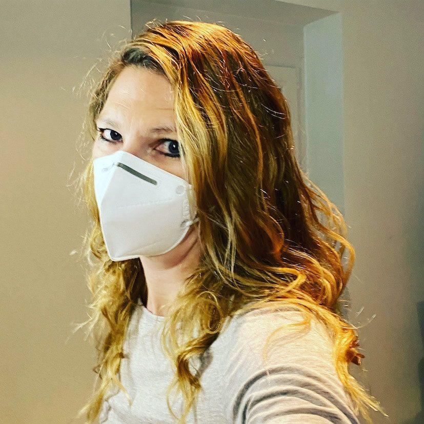 Optimismus Corona FFP2 Maske Mund-Nasen-Schutz Negativ