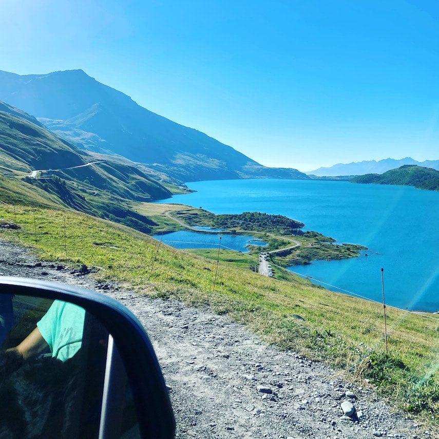 Corona_Optimismus Lac de Mont Cenis Roadtrip Frankreich Alpen Kastenwagen