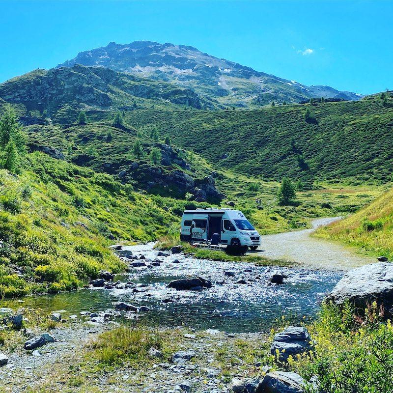 Roadtrip Alpen Lombardei Camping Wildcamping Kastenwagen Wohnmobil