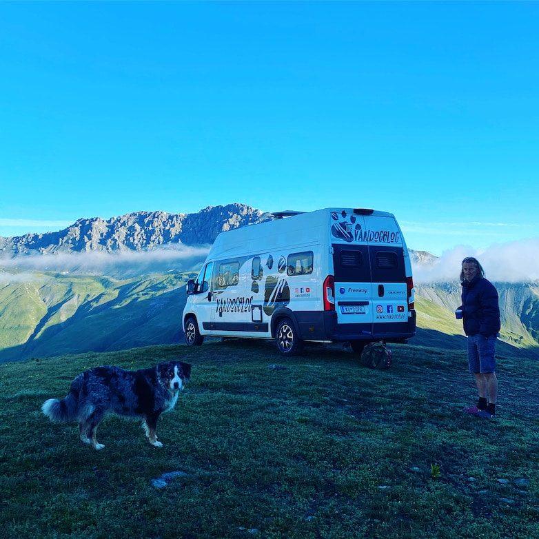 Stilfser Joch Roadtrip Camping mit Hund Alpen Italien Lombardei Südtirol Wohnmobil Kastenwagen